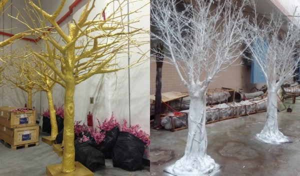 China Whole Professional Factory Make White Frp Artificial Dry Tree Trunk For Decoration