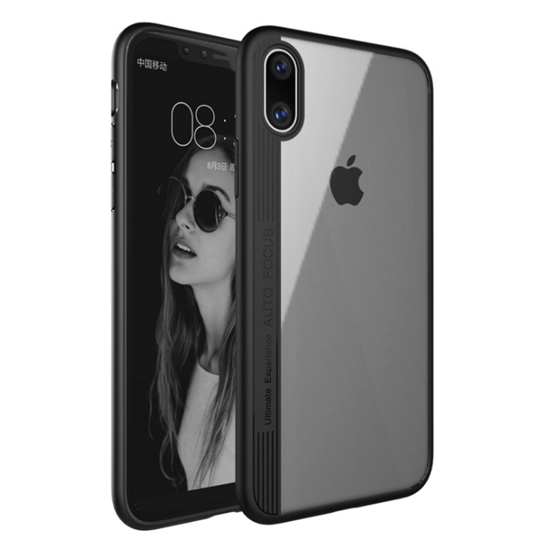 Touch Case Matte Finish Flexible Soft TPU Cover Shell Skin Support Wireless Charging for Apple iPhone X