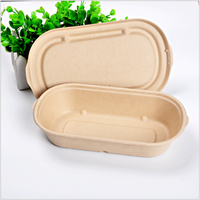 heavy duty sugarcane Salad Bowl with lid leakproof