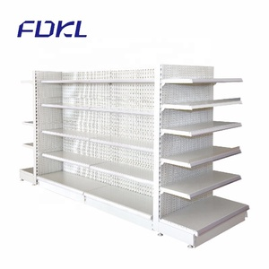 Top! Gondola Supermarket Store Steel Display Stand Shelf With Label Holder
