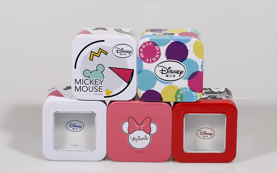 تصميم مخصص ميكي ماوس علامات صغيرة من حجر الراين الهاتفي كوارتز ساعة نسائية معدنية