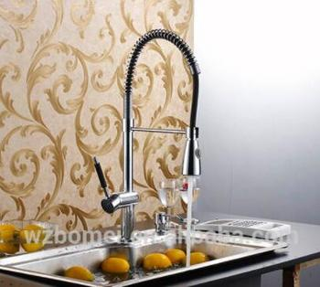 Solid Brass Spring Kitchen Faucet sink mixer