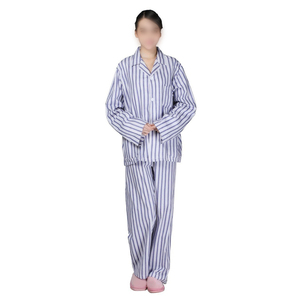 100% cotton stripe antibacterial and casual patient uniform