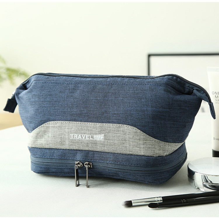 Osgoodway Double Compartment Small Travel Make up Organizer Bag Waterproof Cosmetic Pouch Bag