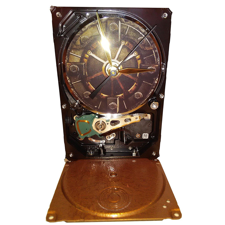 Hard Drive Clock with Gamer Fallout 4 Vault Door. Got Game? Got Gamer? Got Gift? Cool Stuff Here!
