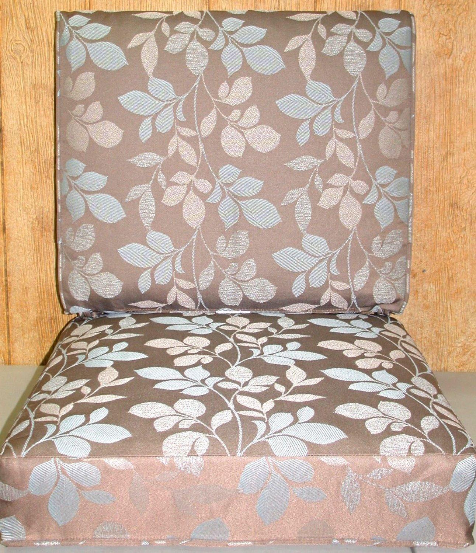 Buffaloe Creek Sales Outdoor Deep Seat Cushion Set ~ Blush Botanical Taupe 21x24x5/24x24x6.5NEW