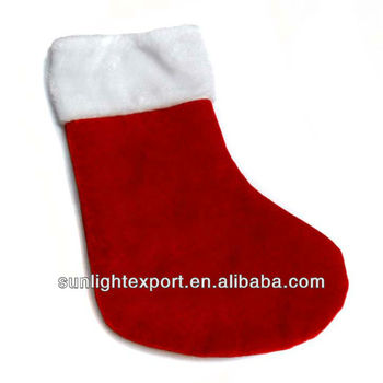Promotional Plain Felt Christmas Stocking Santa Socks