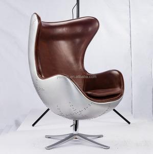 The Egg Chair.Aluminum Back Adult Size Egg Chair Aviator