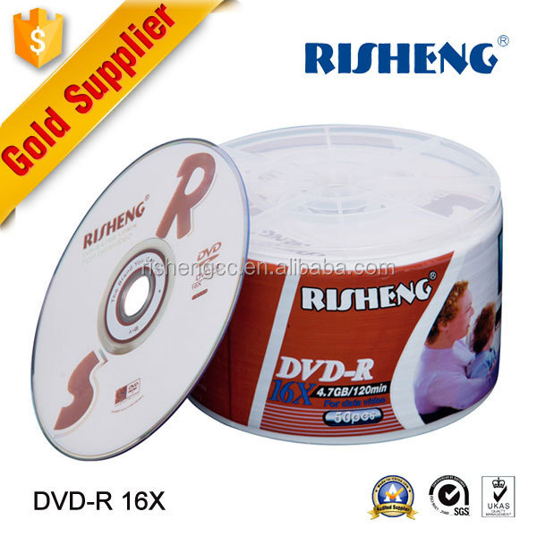 RS-1026 blank 4.7GB hard disc dvd/blank media disks 8x 4.7gb dvd-R/wholesale price of silver dvd