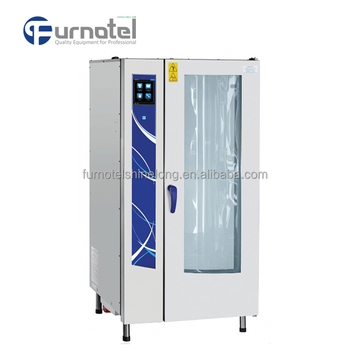 Kitchen equipment 20 Tray Combi Steamer with Boiler (Touch Screen Type)