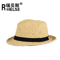 fashion paper straw fedora hat hand make custome foldable hat