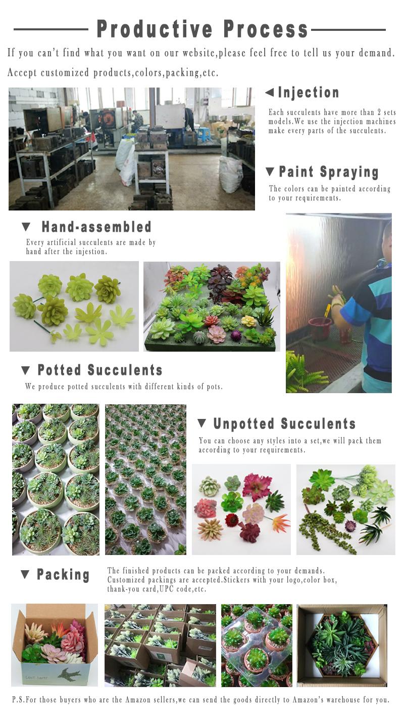 Amazon Venta caliente hermoso artificial echeveria planta suculenta con colgante de semillas