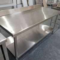 Stainless Steel Commercial Kitchen Prep & Work Table w/ Backsplash