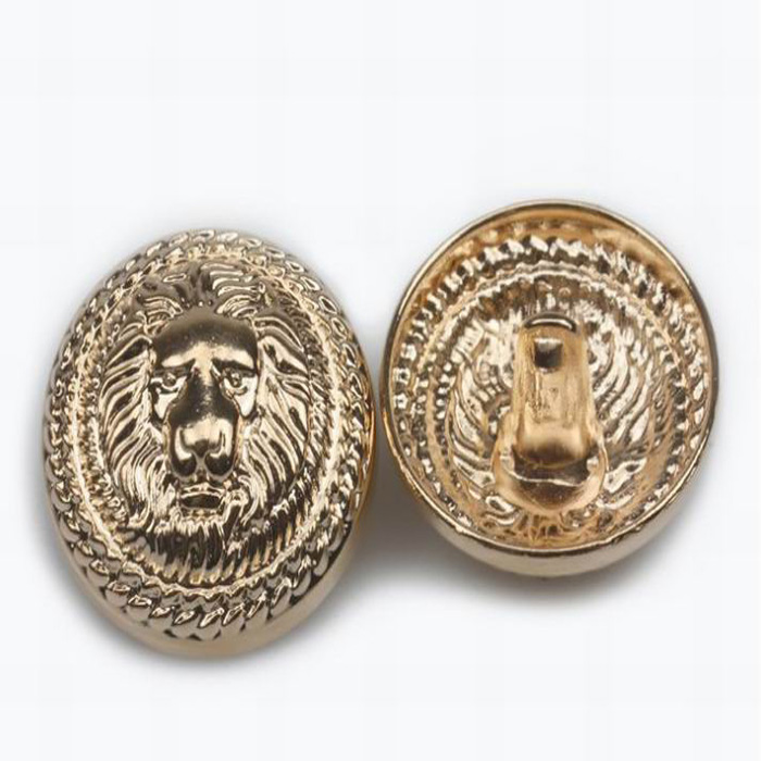 High Quality Military Metal Button Gold Lion Head Style Button For Coat -  Buy Metal Coat Buttons For Sale,Lion Head Alloy Button,Western Metal  Buttons