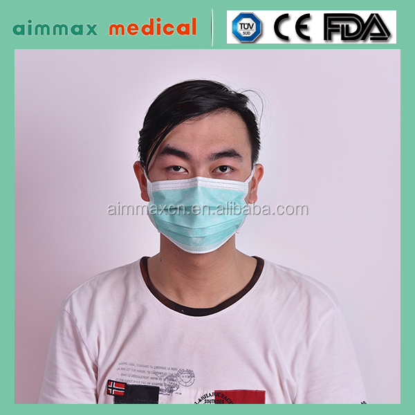 Nonwoven Hospital Disposable Face Mask/Manufacture supply dust face mask with design colored surgical masks