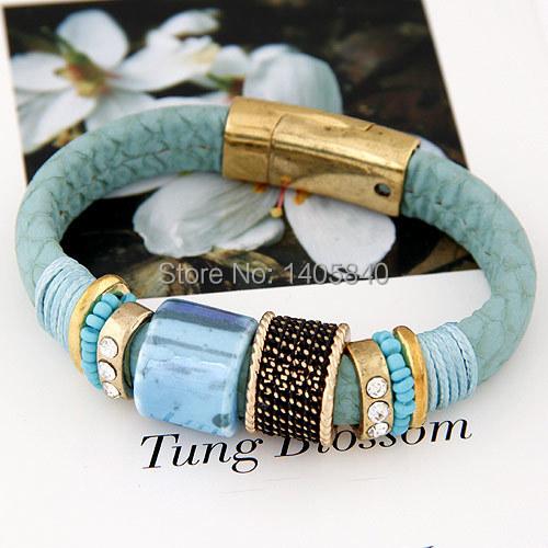 Браслеты для женщины стерлингового серебра ювелирные изделия модный год в подарок / женщины кожа браслет бусины
