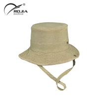 Fashionable sun wide brim bucket hat with string