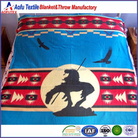 100% acrylic Queen Size native American style throw blanket 60 x 80 inches Best Biggest American store product for gifts