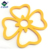 Wholesale flower shape trivet drying bbq clear silicone hot dish mat
