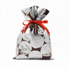 Huadefeng Silver Non Woven Fabric Gift Pouch Wedding Favor Jewelry Drawstring Bags