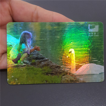 Getsmart 2017 2D Unique Dhologramme De Conception Cartes Visite En Plastique