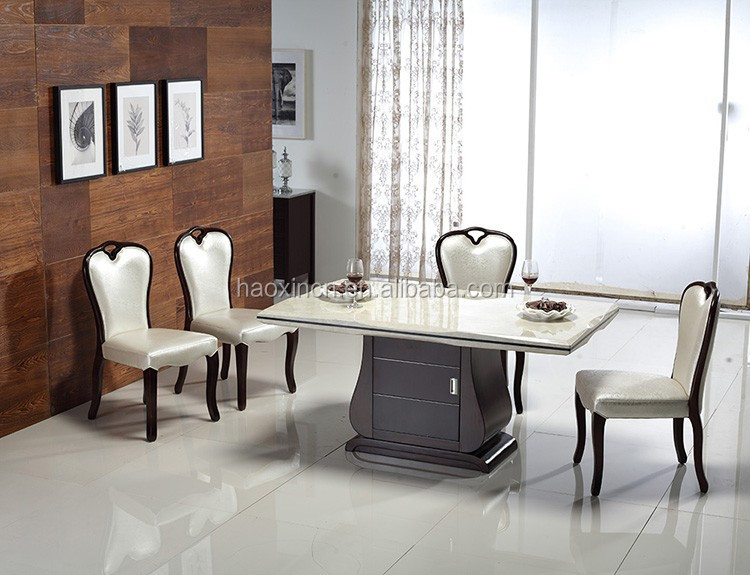 Graint Rubber Wood Dining Table - Buy Square Granite Top Dining