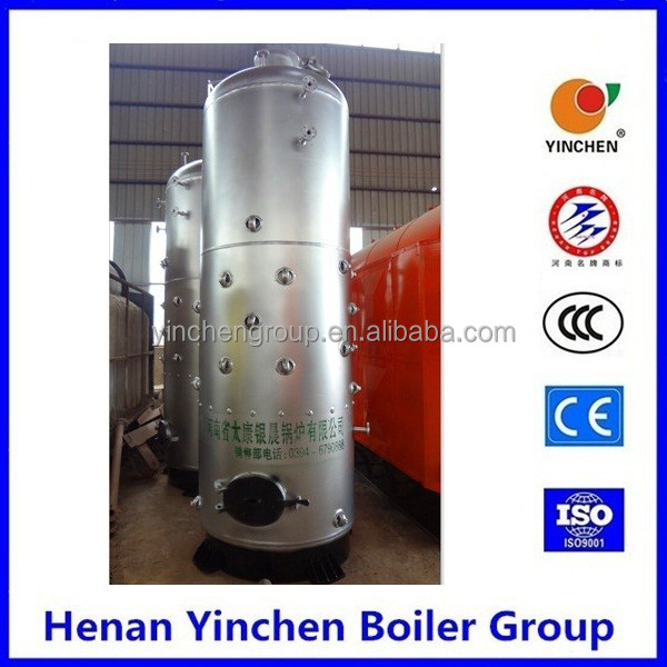 Textile line small 7bar coal wood fired steam boiler for home from henan zhoukou city