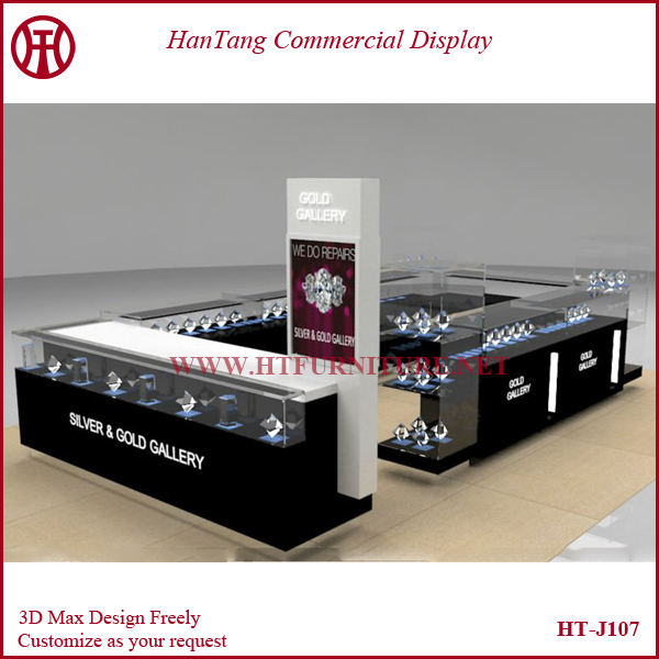 3D Max design & customize luxury mall jewelry store decoration for sale