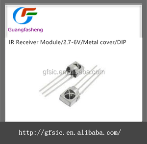 IR Receiver Module/2.7-6V/Metal cover/DIP