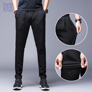 Men's Viscose Sweatpants Lightweight Drawstring Zipper Pockets Workout Running Pants