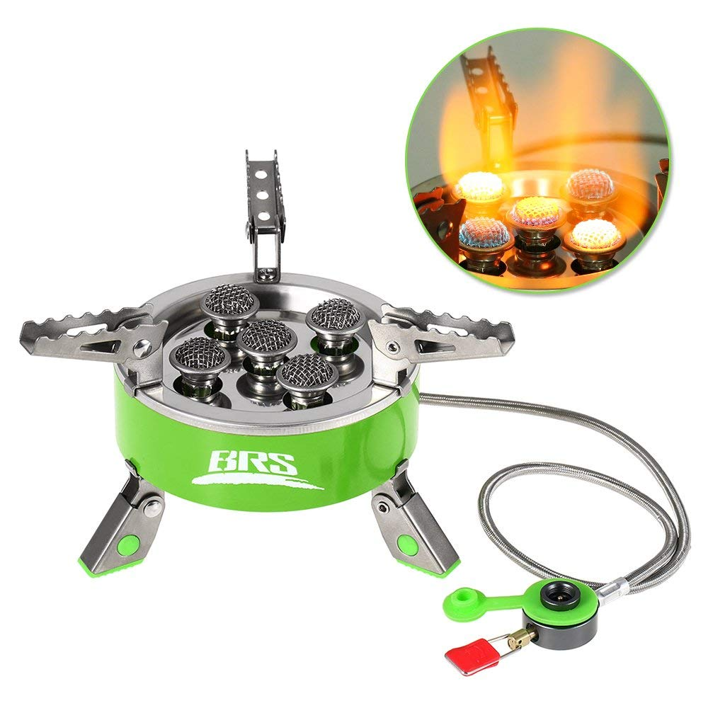 Lixada// Outdoor Windproof Folding Gas Stove Camping Hiking Picnic Foldable Stove Stainless Steel Cooking Stove Furnace