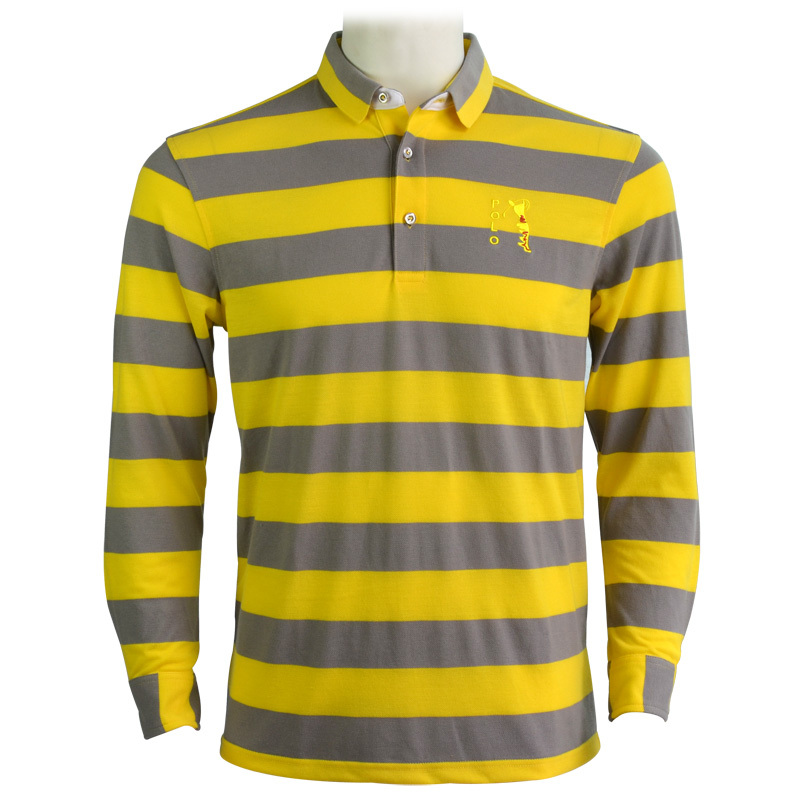 9b18e162f2d Buy Brand Polo golf mens long sleeve shirts summer cotton sports striped  breathblie quick dry golf t shirts for men green yellow XL in Cheap Price on  ...