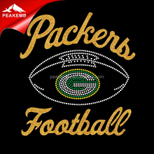 Greenbay Packers Hotfix Rhinestone Transferência de Calor Iron on <span class=keywords><strong>glitter</strong></span> <span class=keywords><strong>Motivo</strong></span>