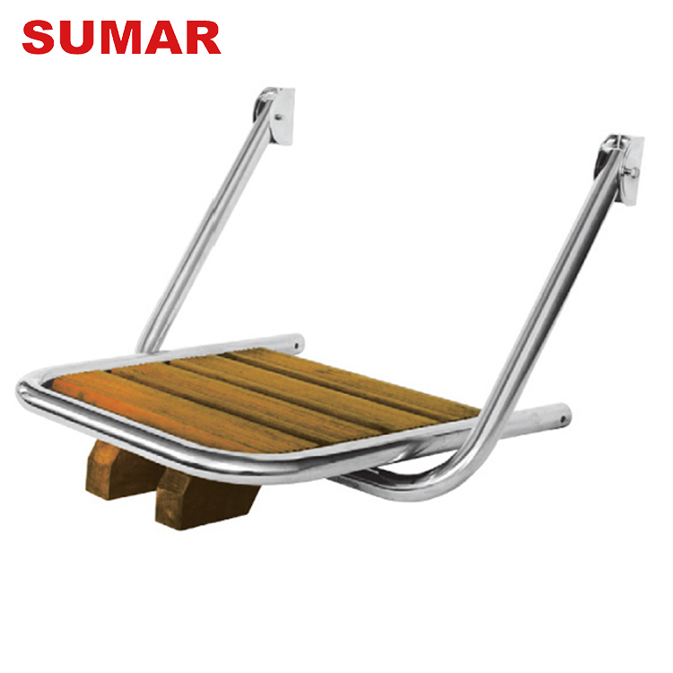 Wholesale corrosion protection yacht accessories swim wooden boat ladder platform sale
