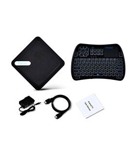 OEM / ODM Android TV box HD Streaming Media Player Amlogic S905X RAM 1G /2G with Voice Infrared RF touchpad keyboard remote