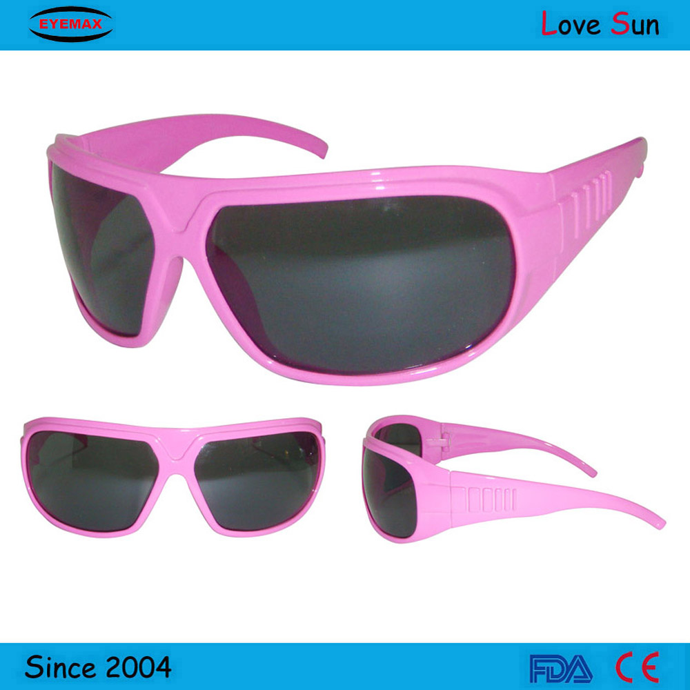 Export pink plastic child sunglasses made in china