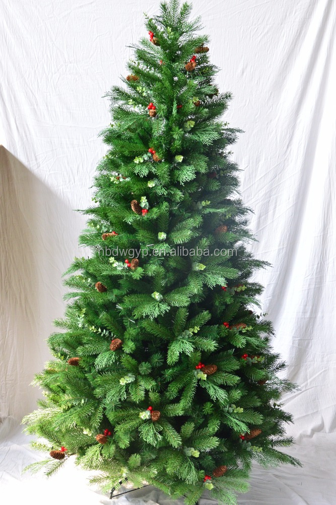 High quality PE Christmas tree with <strong>decorations</strong> 180cm high