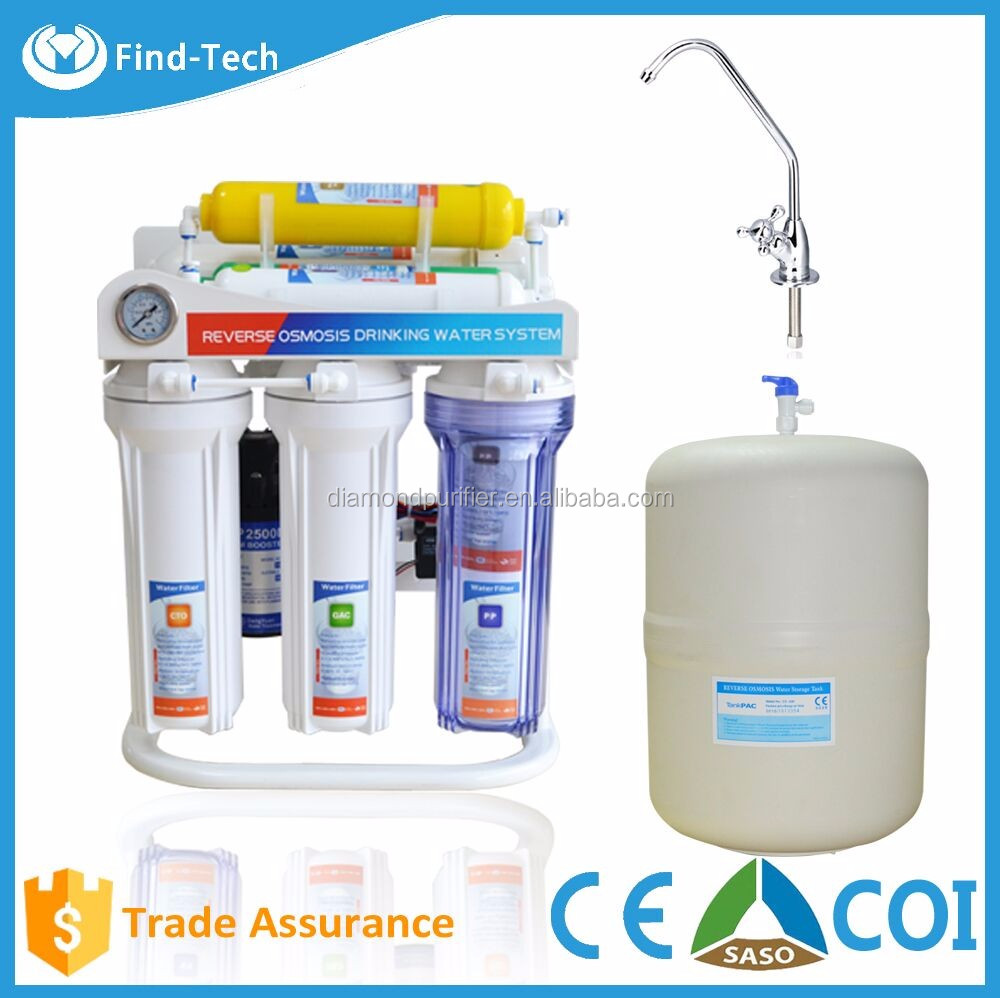 Home Reverse Osmosis Drinking Water System High Quality Home Made Water Filter Reverse Osmosis 7 Stage