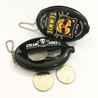 Cheap Silicon Coin Purse Bag with Keyring Pocket Pvc Customized Logo Printed Coin Holder