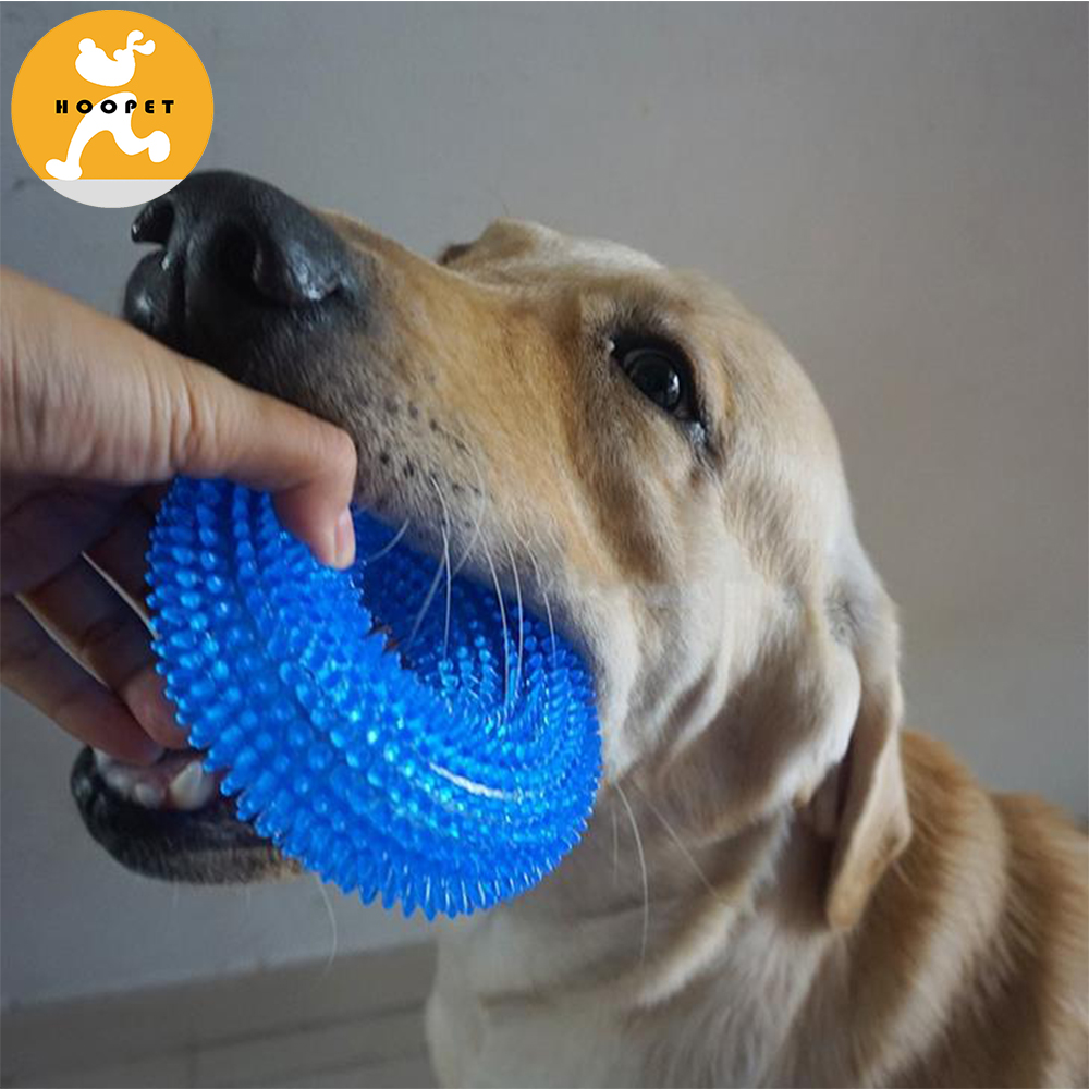 Massage Tire Bite Toys Ball With Thorn Sound Dog Toy
