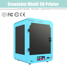 2015 free shipping Newest Model Material 1.75mm PLA/ABS Createbot  Mini 3D Printer With Touchscreen