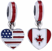 925 sterling silver esmalte <span class=keywords><strong>charme</strong></span> dangle beads fit pulseira Europeu da <span class=keywords><strong>bandeira</strong></span> nacional