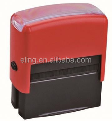 Plastic Self inking Stamp common seal stamp