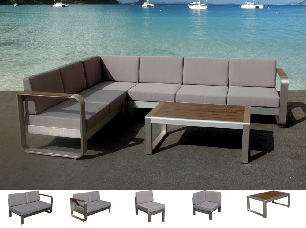 Aluminum Large Size L Shaped Sofa