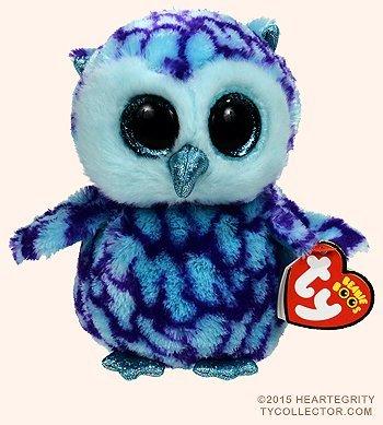 Buy New Ty Beanie Boos Cute Oscar The Blue Purple Owl Plush Toys 6
