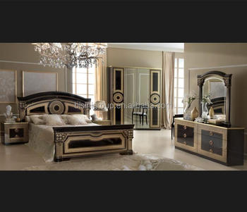 Italian Black Golden Dark Color Bedroom Furniture Set - Buy Italian Bedroom  Furniture,Black Golden Bedroom Furniture,Black Golden Bed Product on ...
