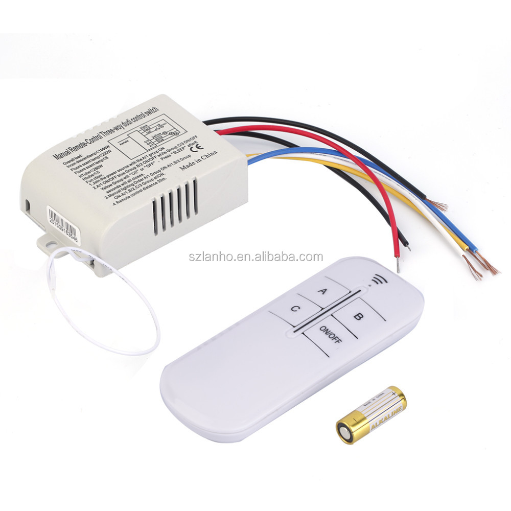220v 3 Way On Off Digital Rf Remote Control Switch Wireless For 4 Sale Light Lamp Worldwide Store Brand New Buy
