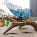 High quality amusement park equipment animatronic animal butterflies