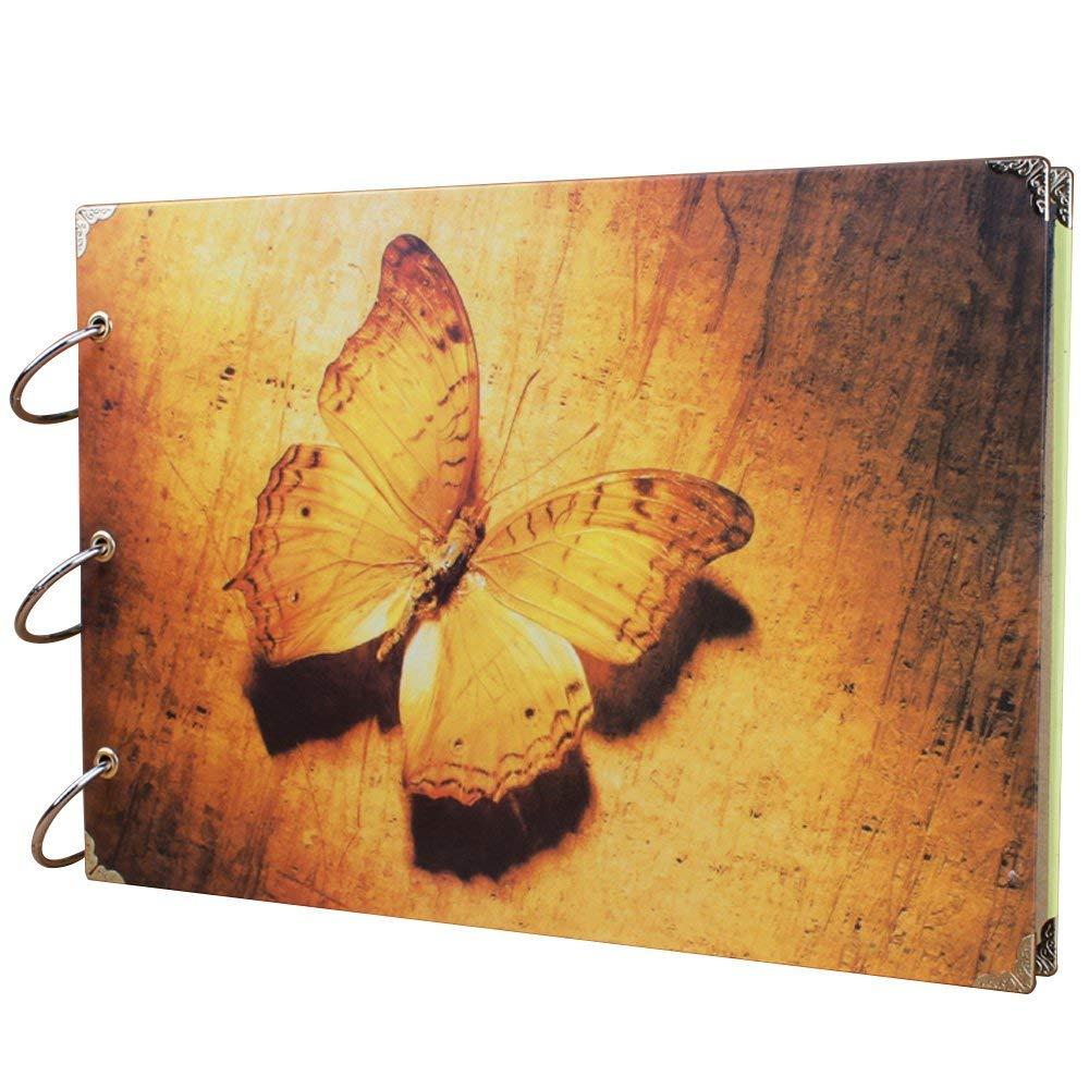 DIY Album,JARAGAR Diy Retro Photo Album Butterfly Dream Scrapbook Vintage Retro Photo Album Photo Records 30/60 surface 5 in / 6 in/large 6 in put 120, 7 in -8 in put 60 sheets