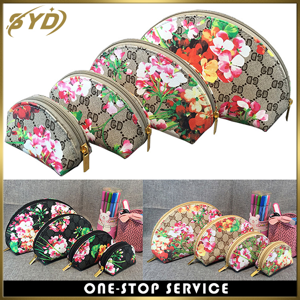 Creative design flower printing Famous winds makeup bag mini shell cosmetic bag